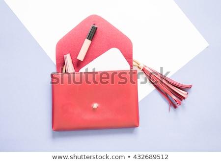 abrir · mulheres · embreagem · saco · isolado · branco - foto stock © GeniusKp