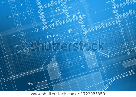 Foto stock: Newly Constructed Modern Home Abstract