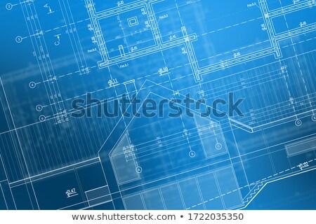 ストックフォト: 新しく · 現代 · ホーム · 抽象的な · アメリカンフラグ · 空