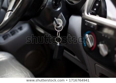 samochodu · zapłon · kluczowych · bezpieczeństwa · odizolowany · biały - zdjęcia stock © kirs-ua