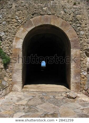 Pequeño oscuro túnel carretera montana verano Foto stock © michaklootwijk