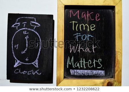 czasu · działania · mały · Tablica · zamazany - zdjęcia stock © tashatuvango