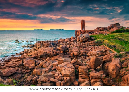 Lighthouse at Atlantic coast, Brittany, France Stock photo © fisfra