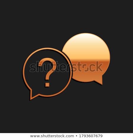 часто задаваемые вопросы вектора икона кнопки интернет Сток-фото © rizwanali3d