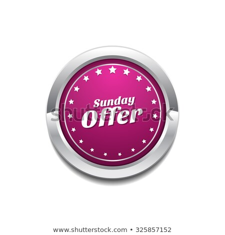 Sunday Offer Pink Vector Button Icon Stock photo © rizwanali3d