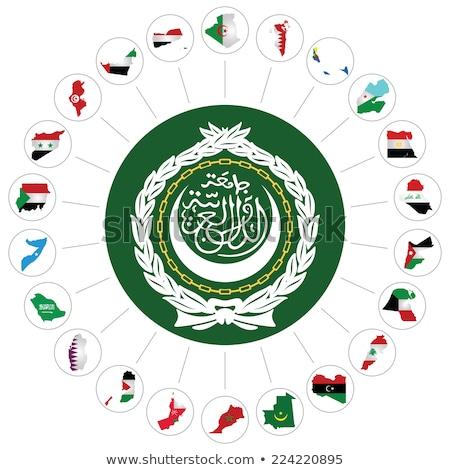 Szaúd-Arábia Comore-szigetek zászlók puzzle izolált fehér Stock fotó © Istanbul2009