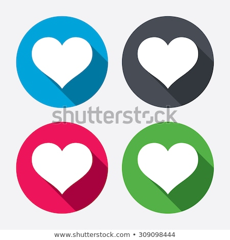 Hart icon roze symbool cirkel Stockfoto © pakete