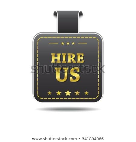 Hire Us golden Vector Icon Design Stock photo © rizwanali3d