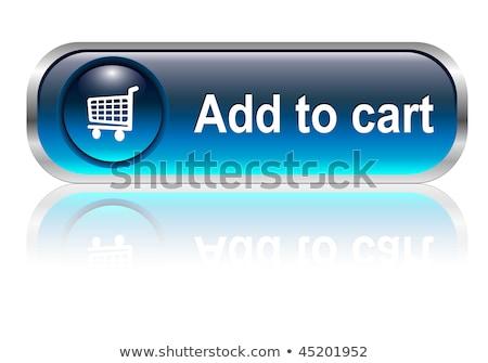 add to cart blue vector icon design stock photo © rizwanali3d