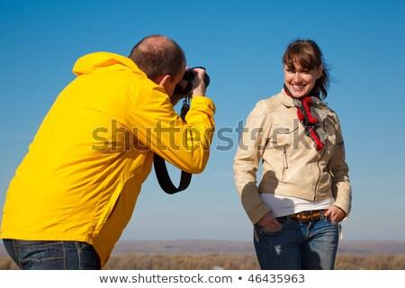 Ragazza fotografo natura hobby persone faccia Foto d'archivio © Paha_L