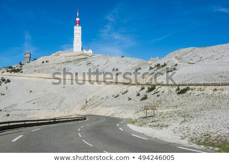 weather station on summit of Mont Ventoux, Provence, France Stock photo © phbcz