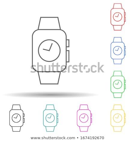 Batterij violet vector icon ontwerp digitale Stockfoto © rizwanali3d