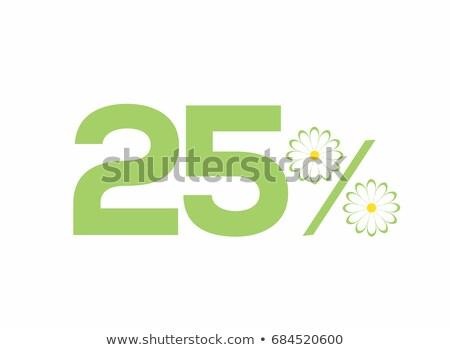 Salvar 25 por cento amarelo vetor ícone Foto stock © rizwanali3d
