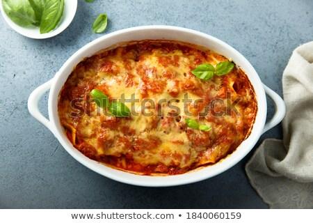 Cheddar sajt marhahús pite egy adag Stock fotó © rojoimages