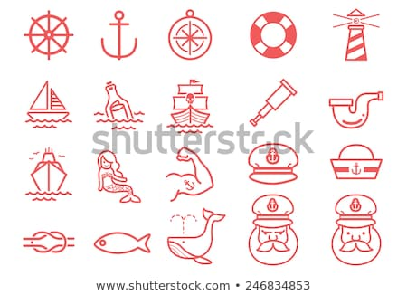 whale with sailor hat Stock photo © adrenalina