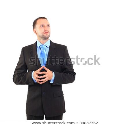 человека глядя расстояние вьющиеся волосы Сток-фото © ozgur