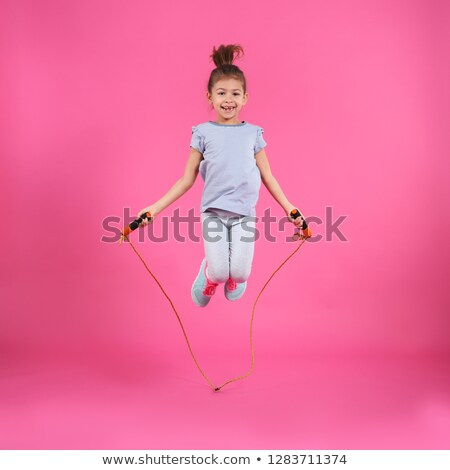 Menina corda retrato mãos cara sensual Foto stock © kokimk