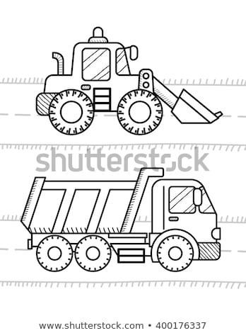 Cartoon · camión · camión · construcción · vehículo · ilustración - foto stock © maxpainter