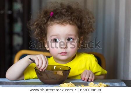 Lenteja sopa pequeño tazón tostado Foto stock © ozgur