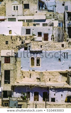 Dorp Syrië christelijke berg jesus oorlog Stockfoto © meinzahn