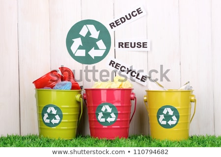 Grass Recycle Bin Stock photo © make