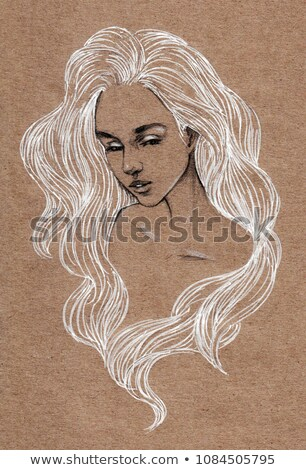 nina · cigarrillo · buscando · mujer · sexy · belleza - foto stock © konradbak