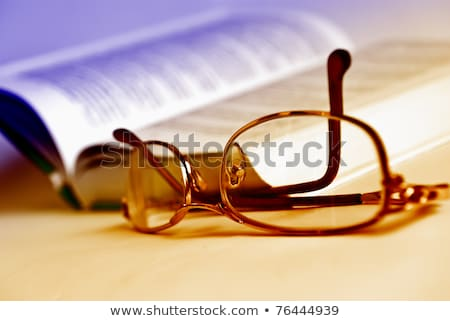 Two books and glasses Stock photo © simply