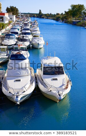 Cullera port marina in Xuquer Jucar river Valencia Stock photo © lunamarina