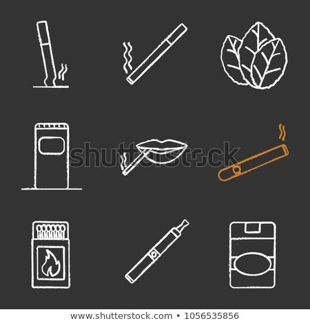 matchbox drawn in chalk icon stock photo © rastudio