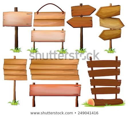 A wooden signboard with pointed edges Stock photo © bluering