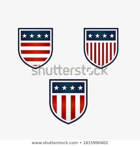 Amerikai pajzs fényes amerikai zászló csillag szabadság Stock fotó © fenton