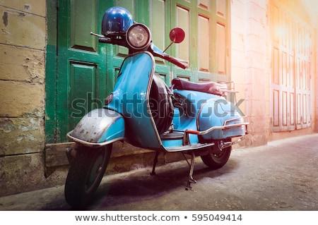 velho · preto · e · branco · rua · preto · motocicleta - foto stock © magann