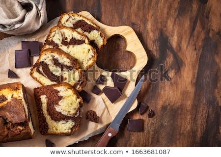 marmer · pond · cake · chocolade · ontbijt · dessert - stockfoto © Digifoodstock