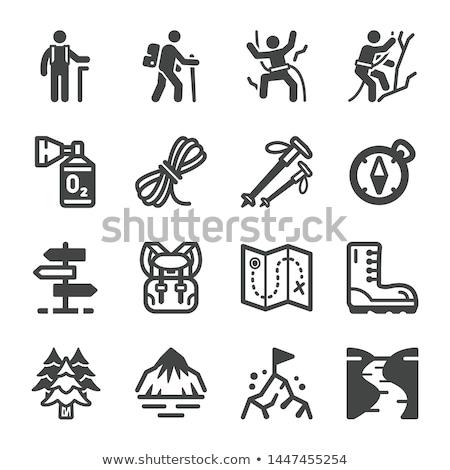 Climbing icons set Stock photo © Genestro