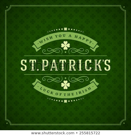 St Patricks Day Border shamrocks Stock photo © Irisangel