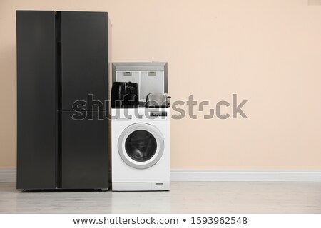 set of washing machines in different designs stock photo © bluering