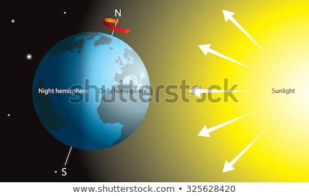 Earth Rotation in Space. Asia.  Stock photo © klss
