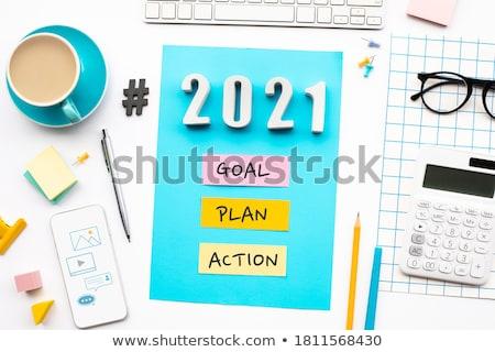 ビジネス 計画 帳 電球 背景 ノートブック ストックフォト © fuzzbones0