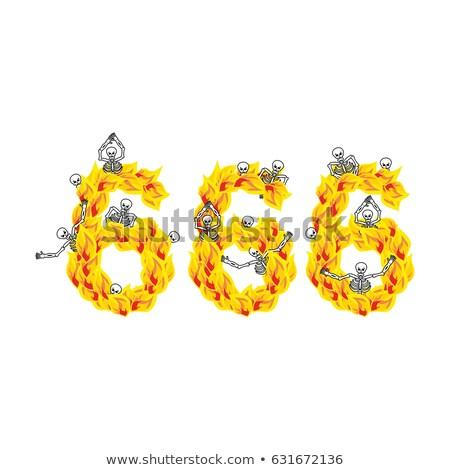demon · brand · vlam · witte · griezelig · scary - stockfoto © popaukropa
