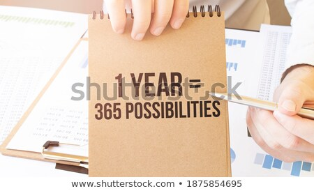 可能 文字 帳 青 ペン デスク ストックフォト © fuzzbones0