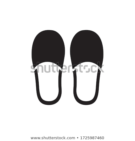Paar slippers iconen illustratie witte Rood Stockfoto © bluering