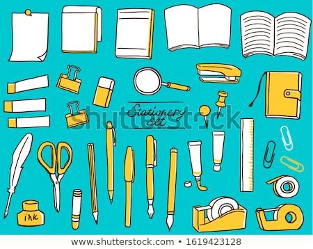 Pismo notebooki student tle edukacji mail Zdjęcia stock © zurijeta