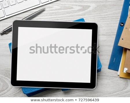 Yapışkan dikkat dijital tablet kalem imzalamak Stok fotoğraf © goir