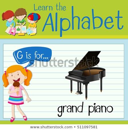 Piano à queue illustration fond art éducation Photo stock © bluering