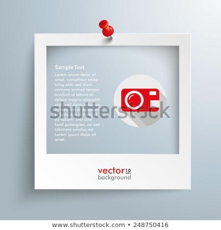 photo with red thumbtack Stock photo © sonia_ai