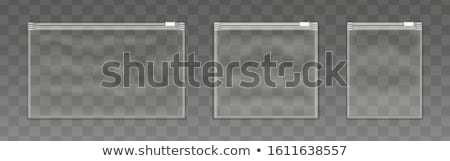 Zíper saco plástico transparente documento isolado Foto stock © coprid