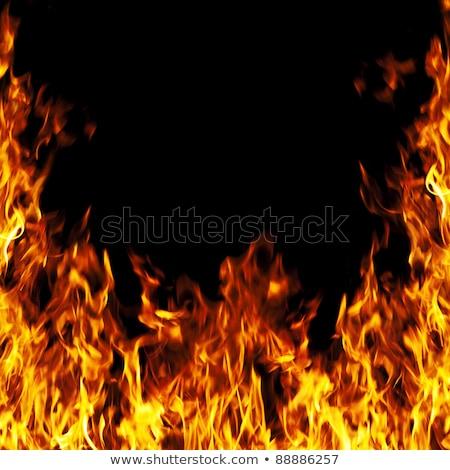 Perfeito fogo laranja vermelho belo perigo Foto stock © almir1968