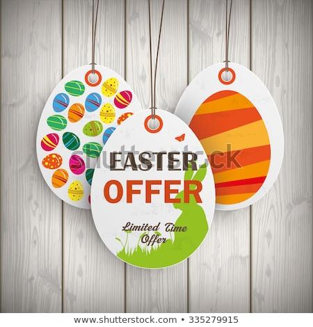 easter eggs on paper background eps 10 stock photo © beholdereye