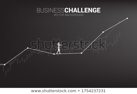 Businesswoman and line graph Stock photo © bluering