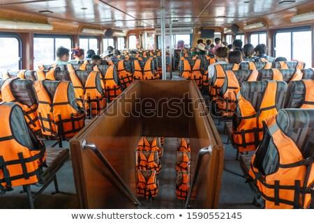 ストックフォト: カラフル · ツアー · ボート · 風景 · 湖 · 自然